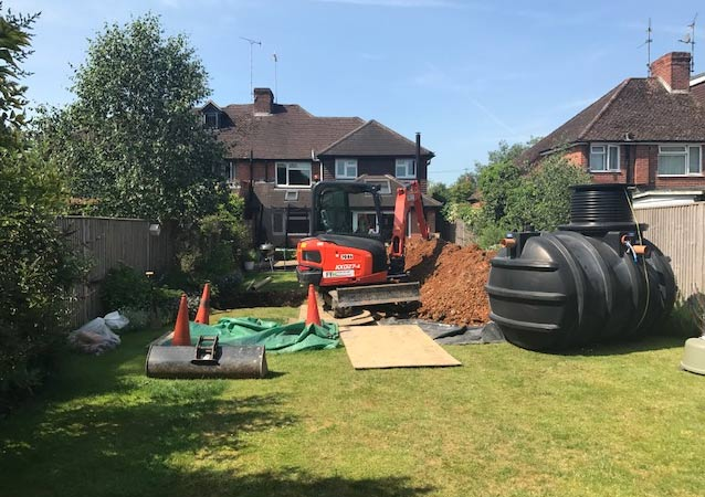 Domestic Sewage Tank Installation